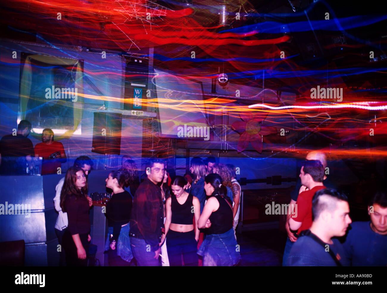 Athen Griechenland Discoteca Discothek Plussoda Immagini Stock