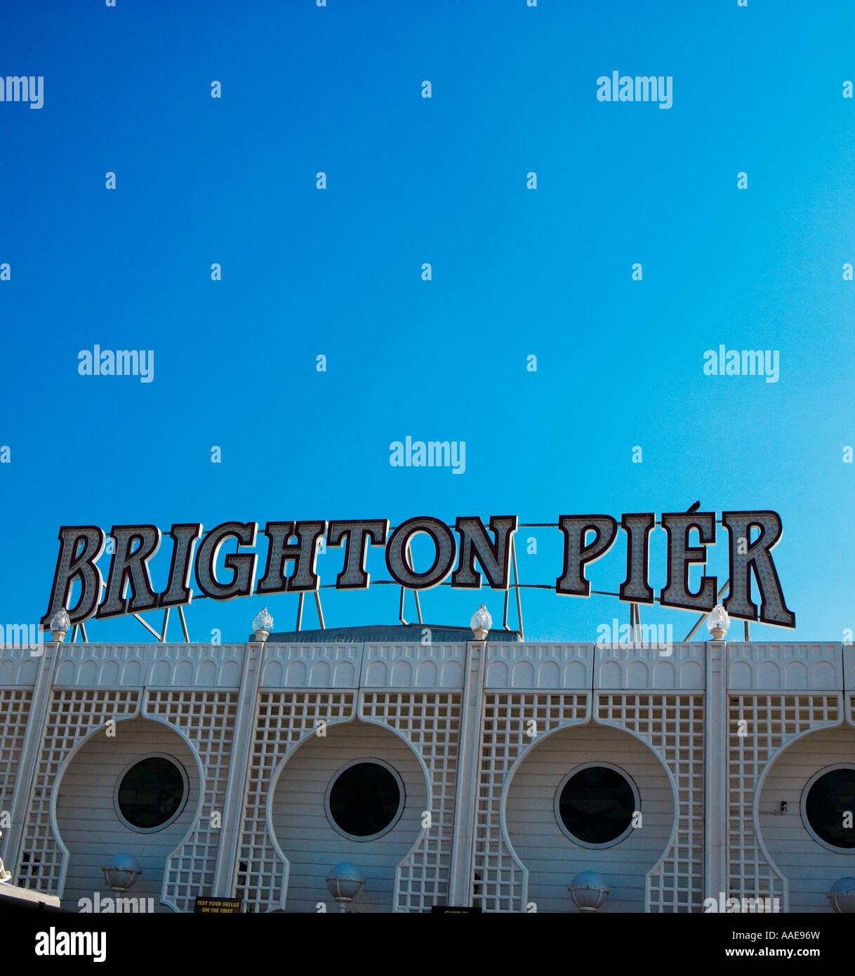Il Brighton Pier e Brighton, Inghilterra Foto Stock