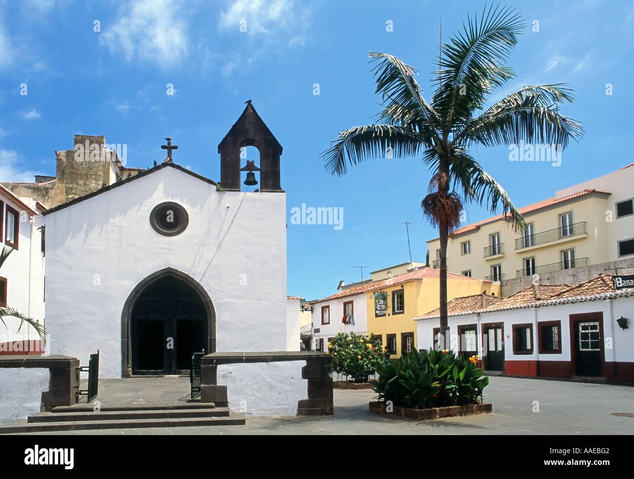 Capela do Corpo Santo chiesa vecchia a Funchal, l'isola di Madeira Portogallo Immagini Stock