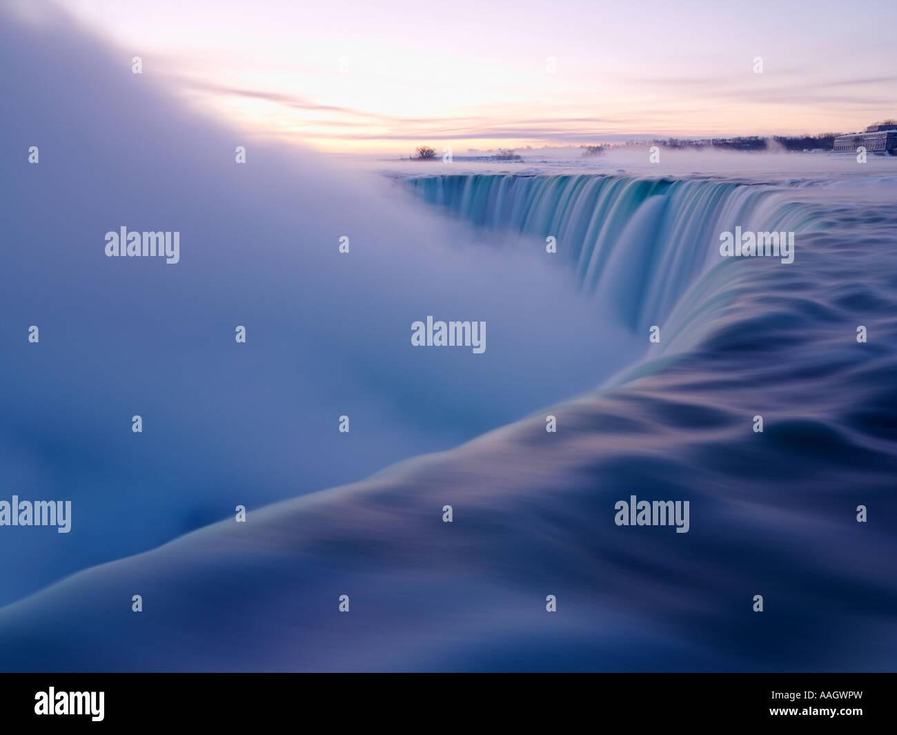 Canada Ontario Niagara Falls all'alba Immagini Stock