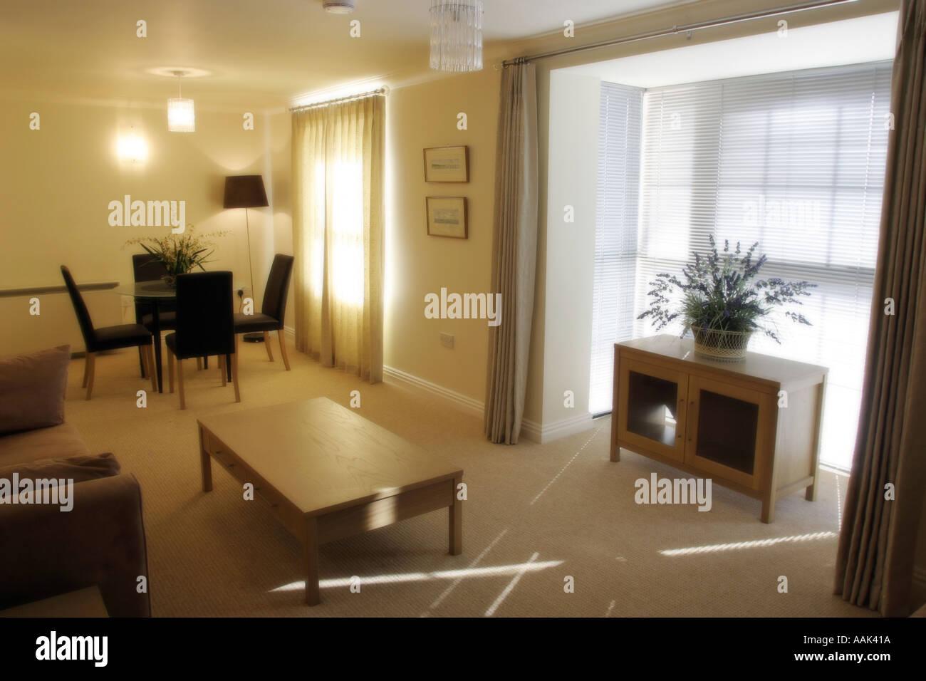 Soggiorno appartamento moderno inglese in Inghilterra la stanza di ...