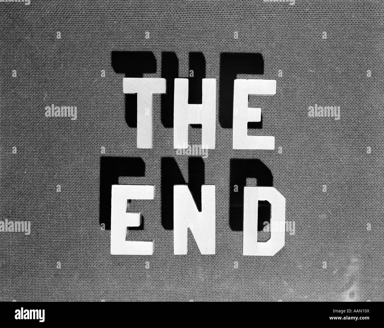1930 La fine retrò il titolo del filmato Immagini Stock