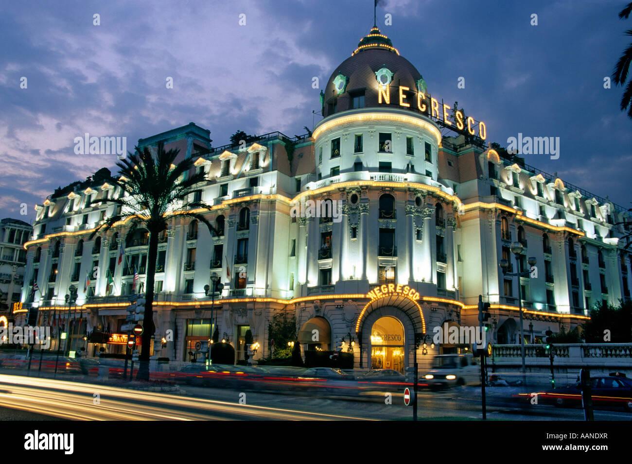 L'Hotel Negresco, Nizza, Europa Immagini Stock