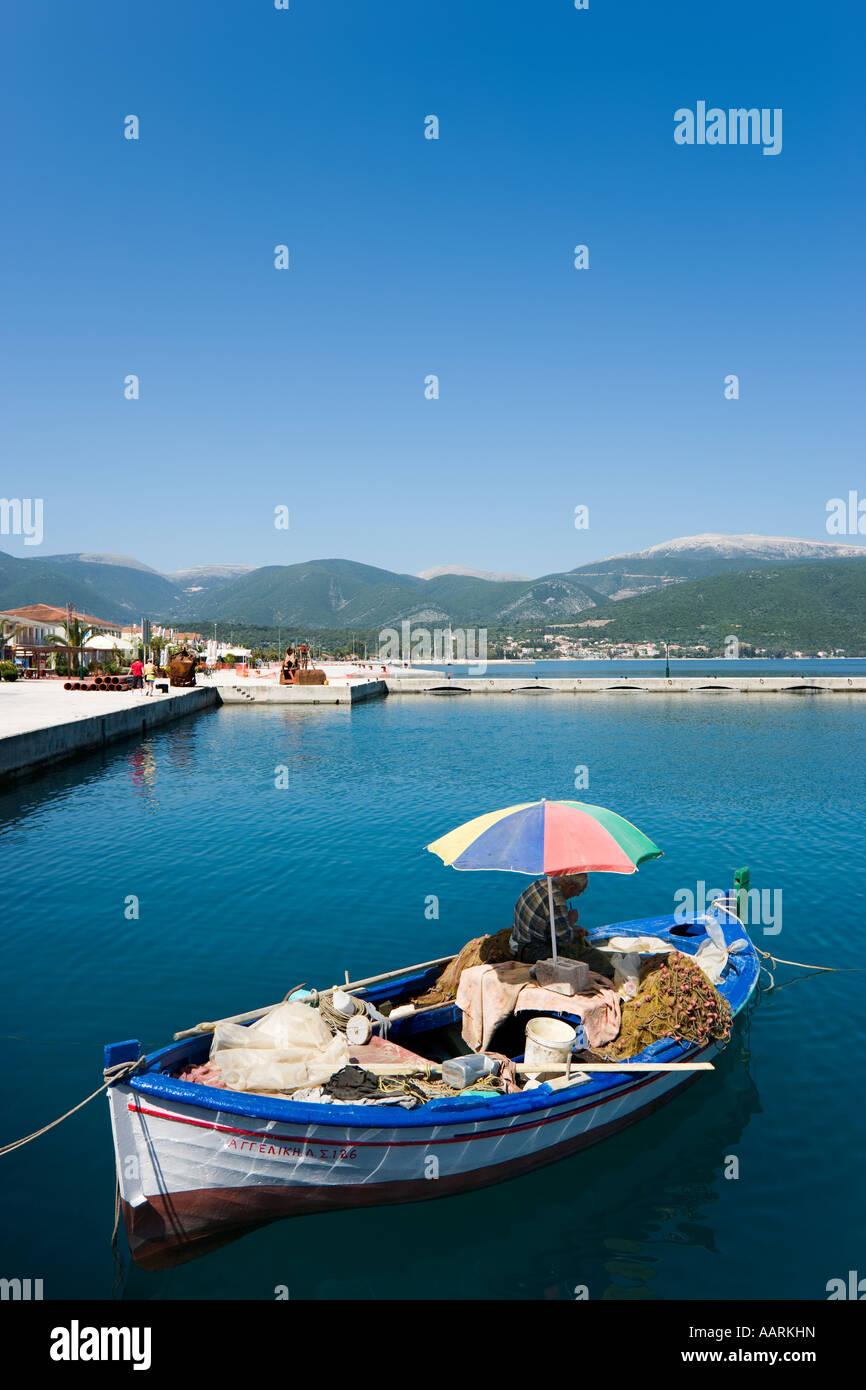 Barca da pesca, Sami, CEFALLONIA, ISOLE IONIE, Grecia Immagini Stock