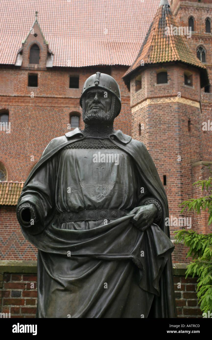 La Polonia Malbork Tuetonic knight Immagini Stock