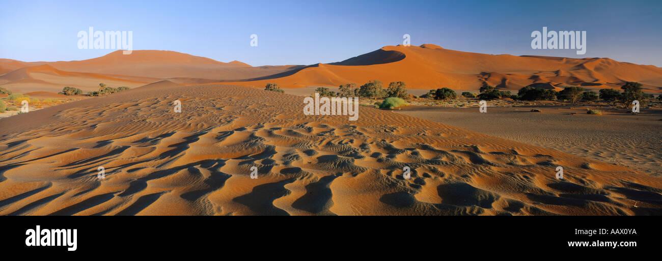 Le dune di sabbia del deserto del Namib Sossuvlei Namibia Immagini Stock