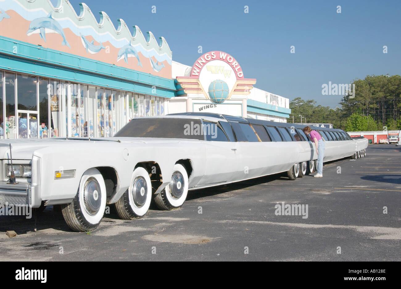 Mondi Limousine più lunga di Myrtle Beach South Carolina USA Foto Stock
