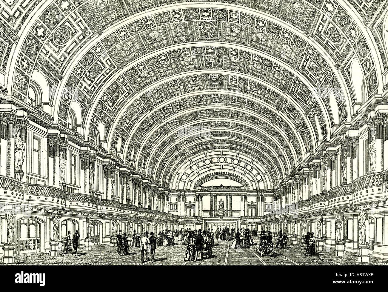 La gente s Palace di Londra U K 1887 la regina s hall aperto da Sua Maestà Londra Immagini Stock