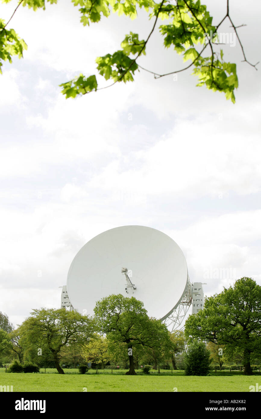 Jodrell Bank science radio telescope astronomia antenne Inghilterra Europa Gran Bretagna Cheshire Regno Unito Gran Bretagna Regno re Immagini Stock