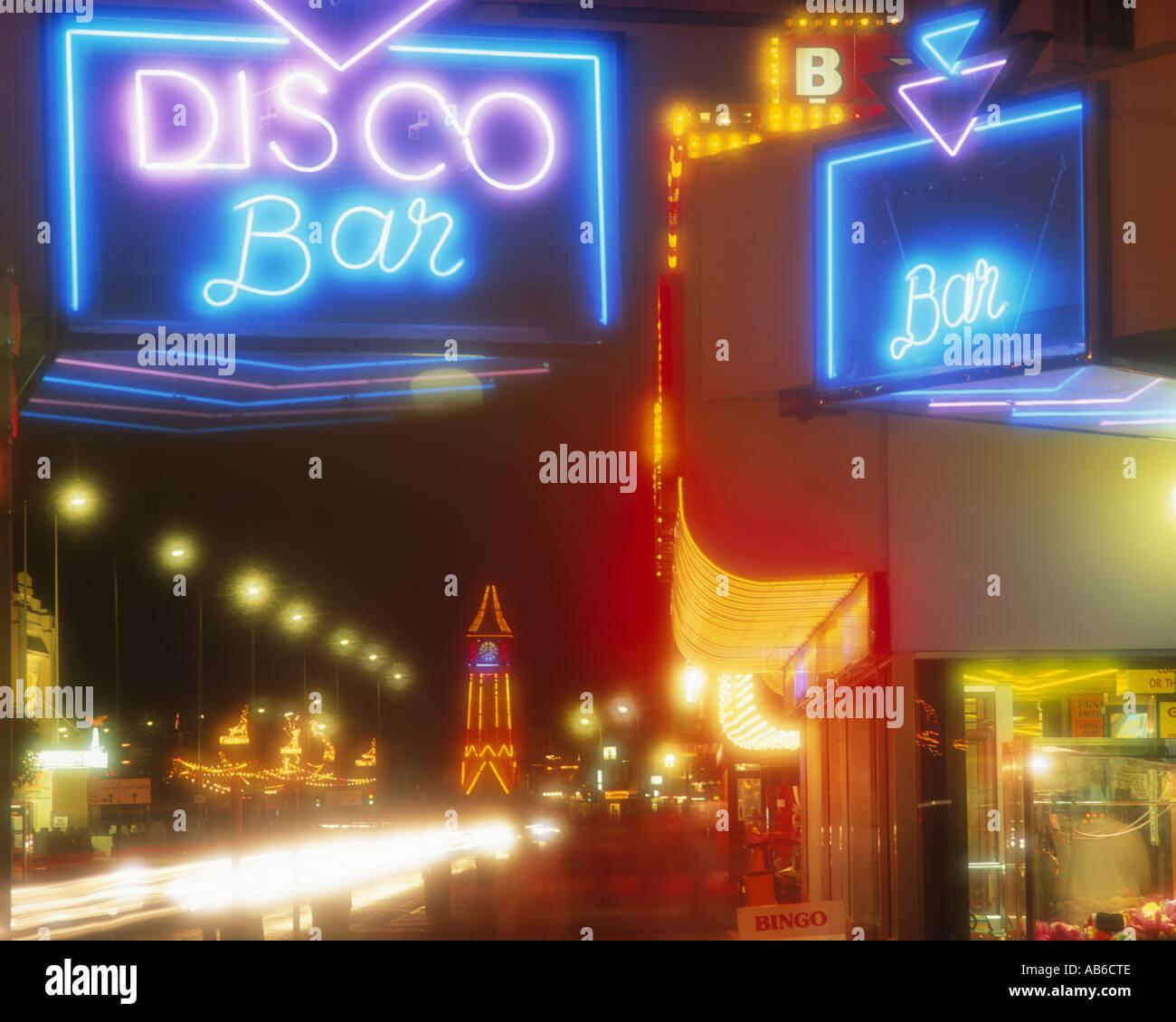 GB - LINCOLNSHIRE: Skegness di notte Immagini Stock
