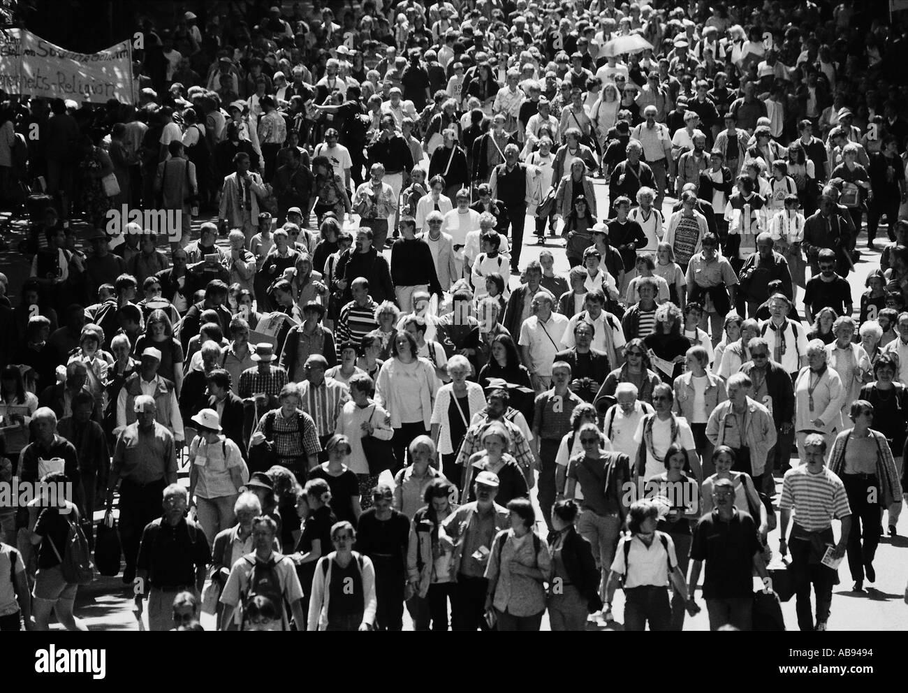Marcia di protesta Immagini Stock