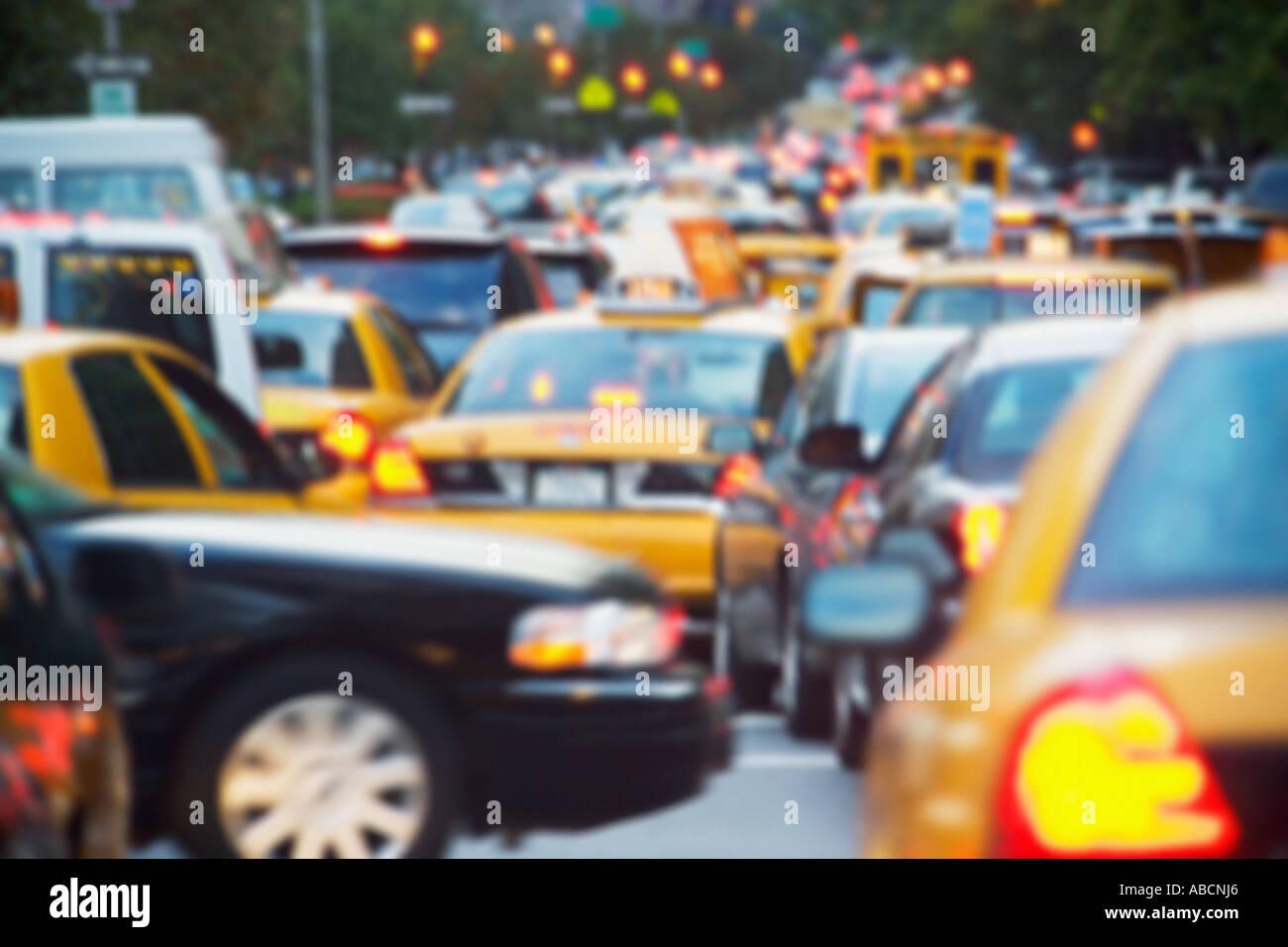 Il traffico in new york Immagini Stock