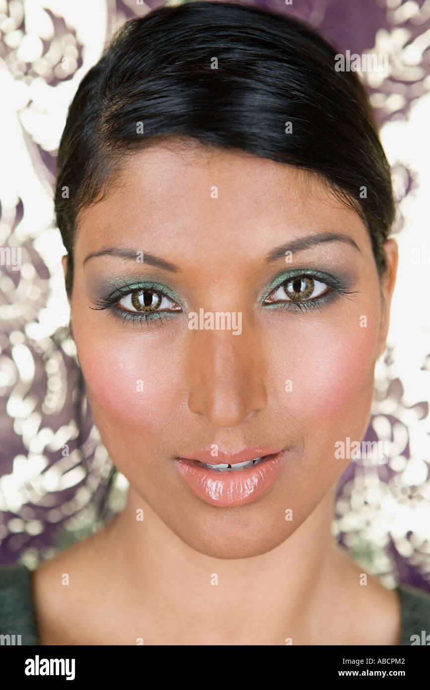 Ritratto di una donna indiana Immagini Stock