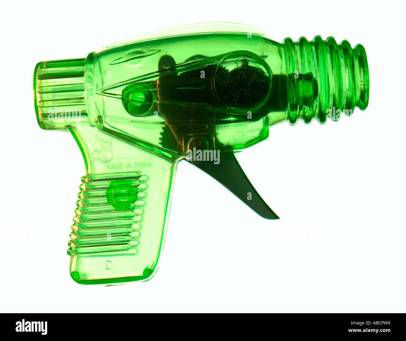 Illustrazioni grafiche di una pistola giocattolo per bambini Immagini Stock