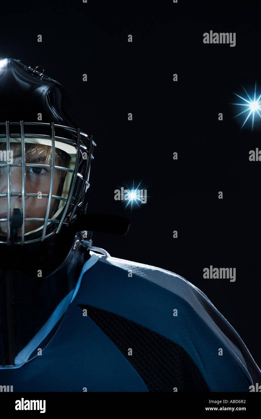 Junior ice hockey player Immagini Stock