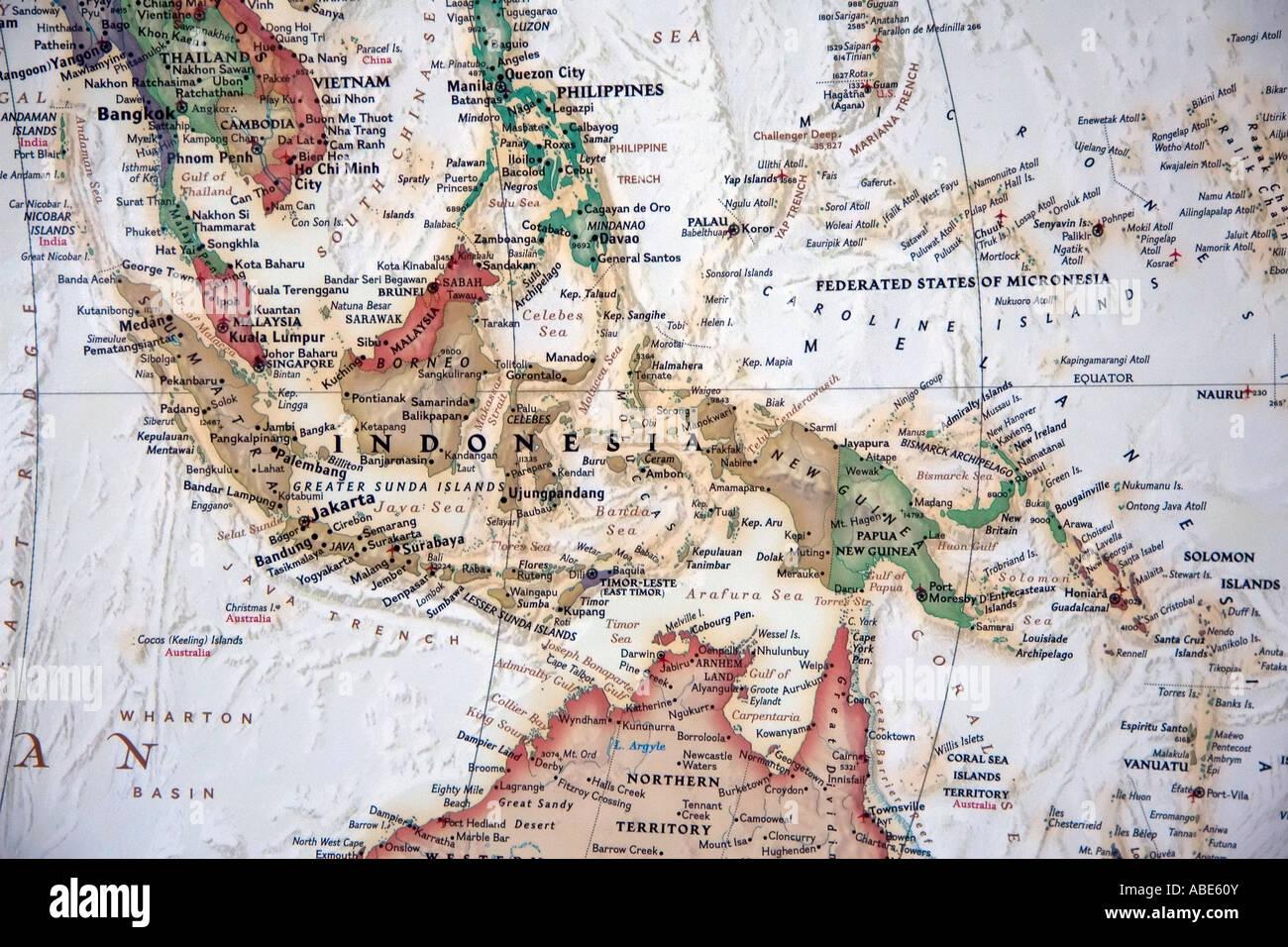 Cartina Indonesia Dettagliata.Carta Geografica Indonesia Immagini E Fotos Stock Alamy