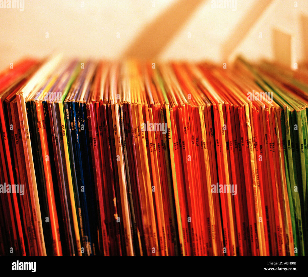 Record spine Immagini Stock