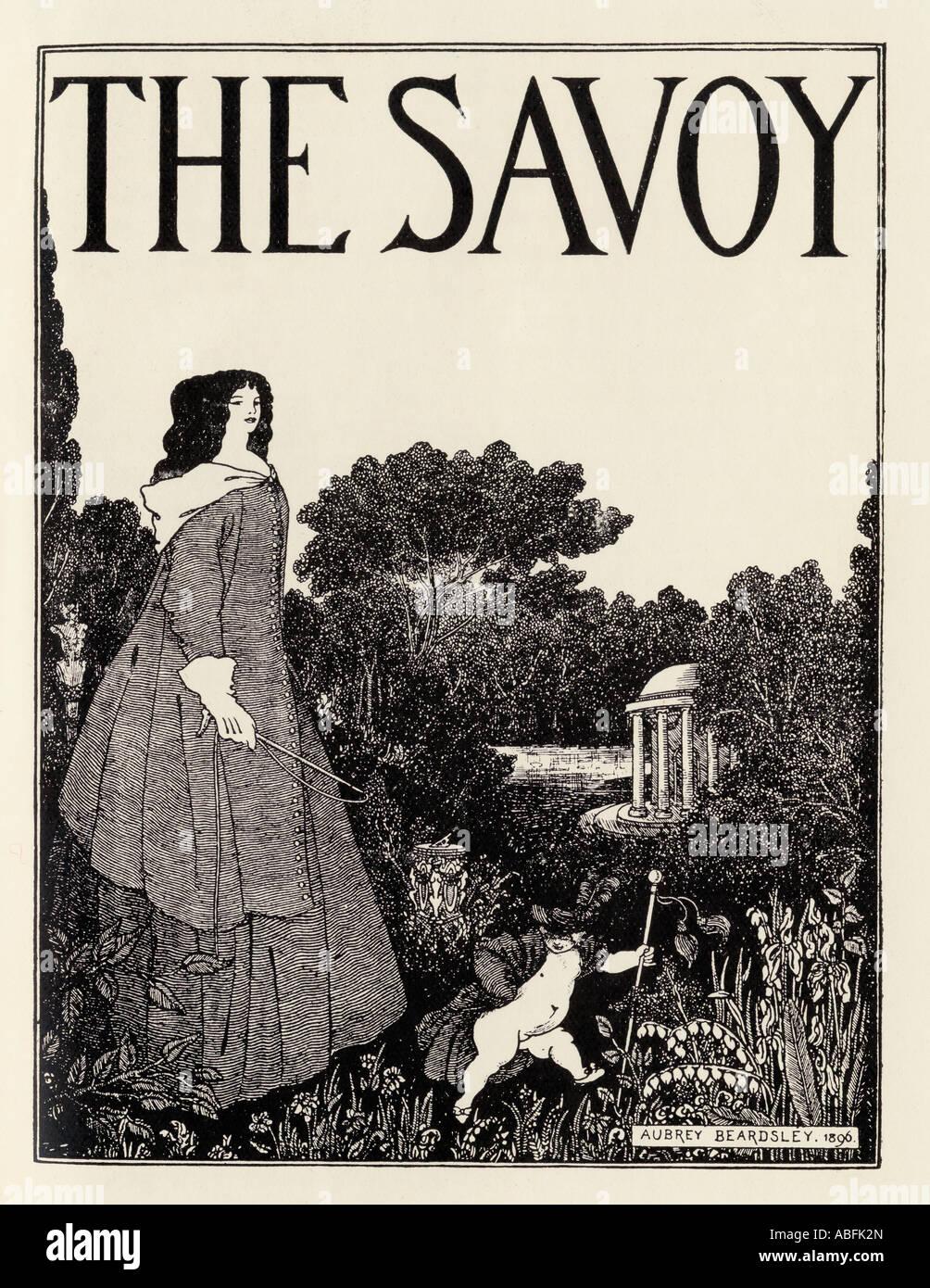 Il design del coperchio del Savoy Volume 1 di Aubrey Beardsley 1872 al 1898 Illustratore Inglese Immagini Stock