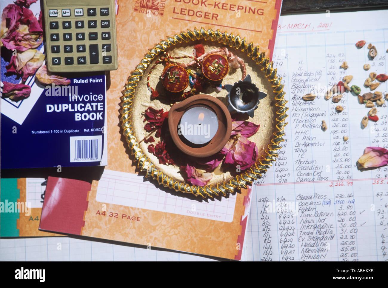Divali offrendo di Lakshmi, dea della prosperità. Immagini Stock