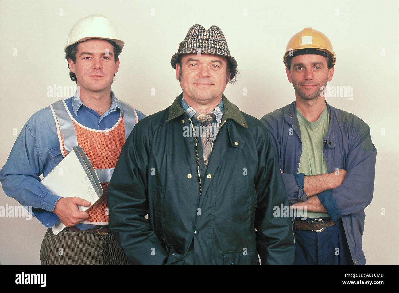 Gruppo di 3 commercianti Inghilterra Immagini Stock