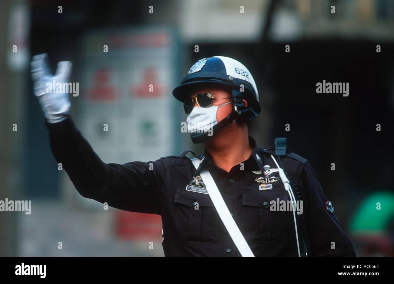 Problemi di conservazione di inquinamento dovuto al traffico di Bangkok in Thailandia Immagini Stock