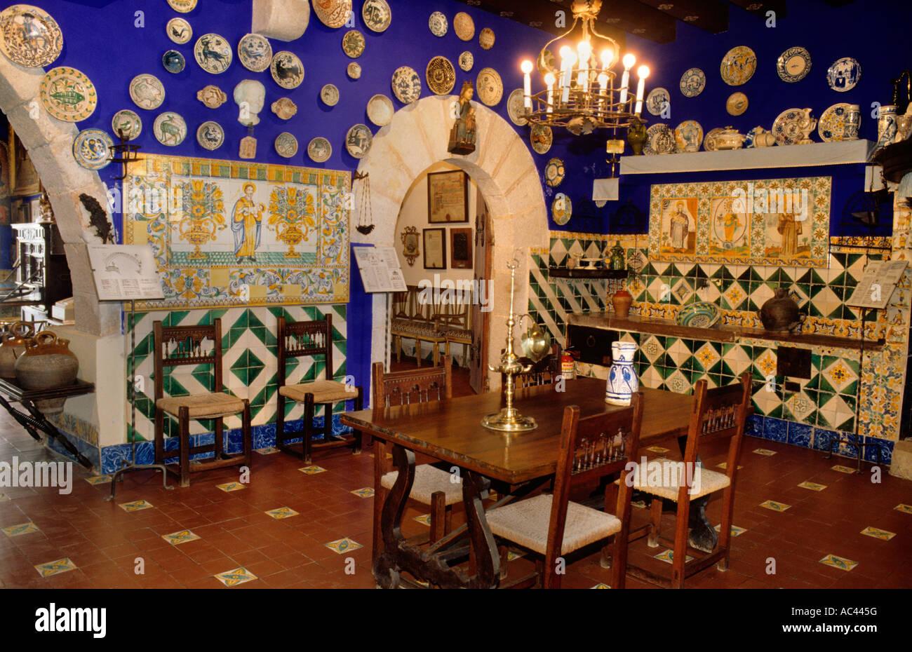 'Cau Ferrat', Santiago Rusinyol Casa-Museo del. Sitges, provincia di Barcellona, in Catalogna, Spagna Immagini Stock