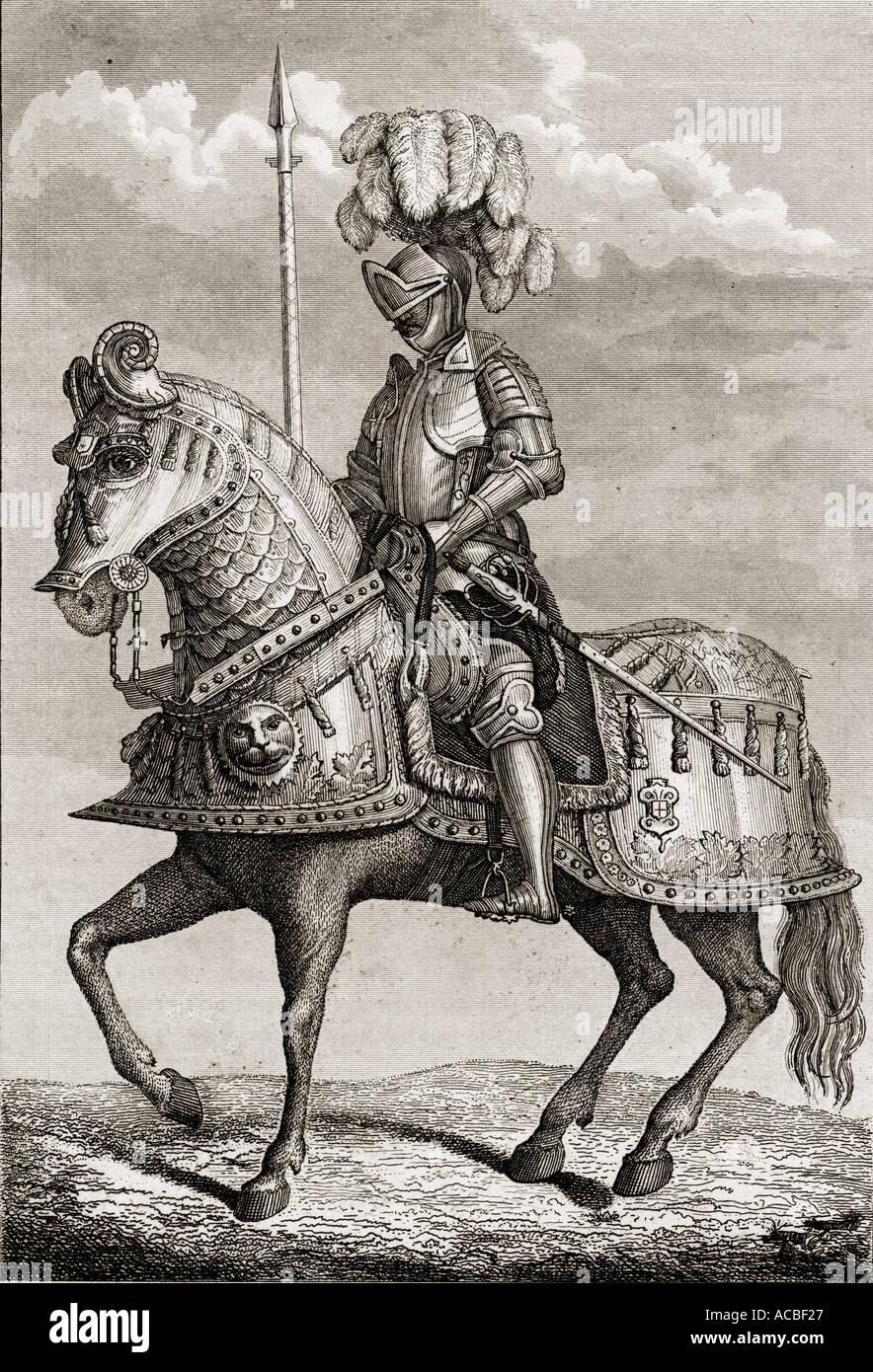 L'imperatore Carlo V la corazza conservati nell'Armeria Reale, Madrid, Spagna. Immagini Stock