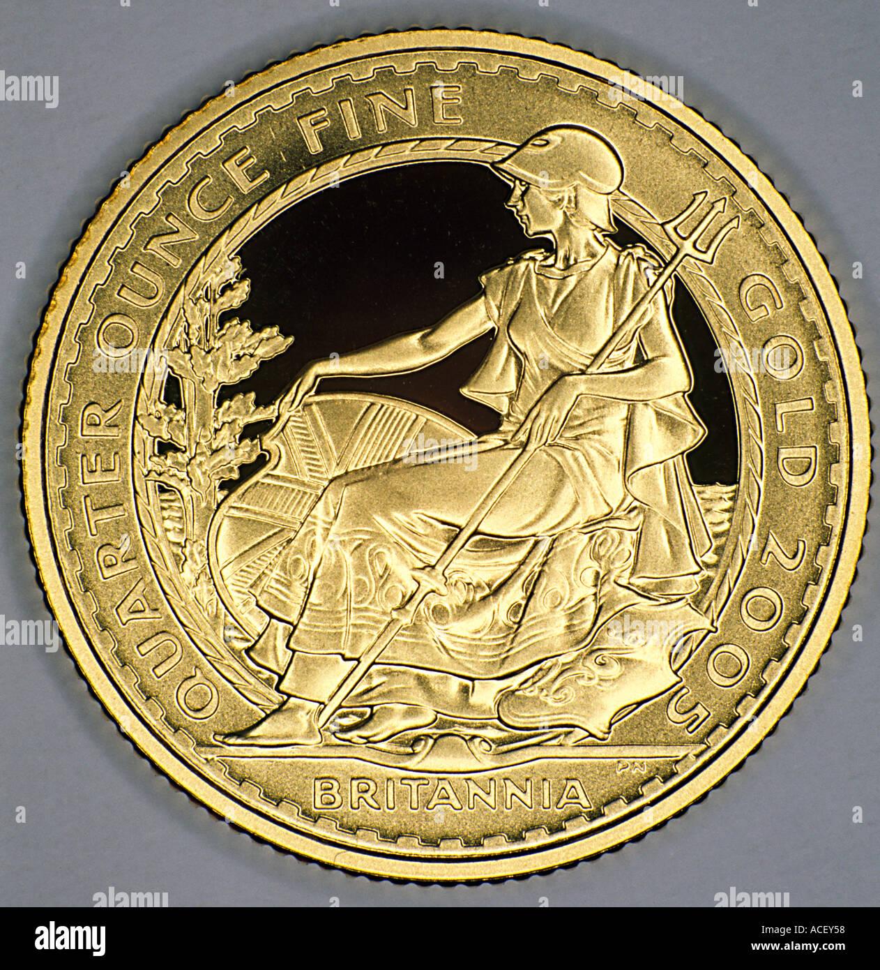 Moneta di Britannia Immagini Stock