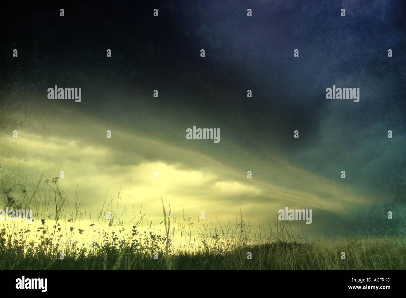 Foto di un cielo in tempesta Immagini Stock