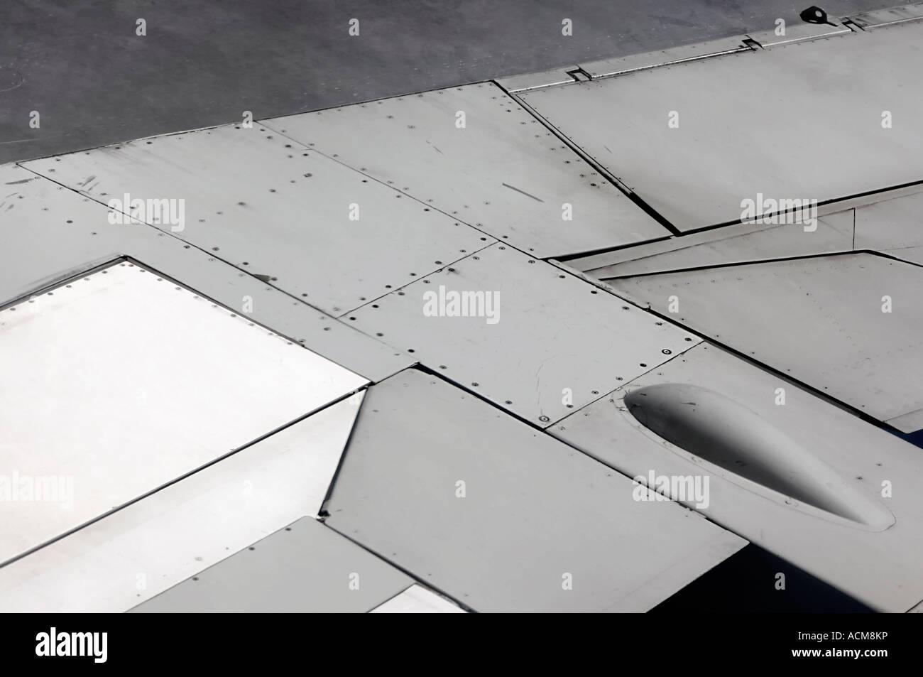 Ala di aeroplano dettagli Immagini Stock