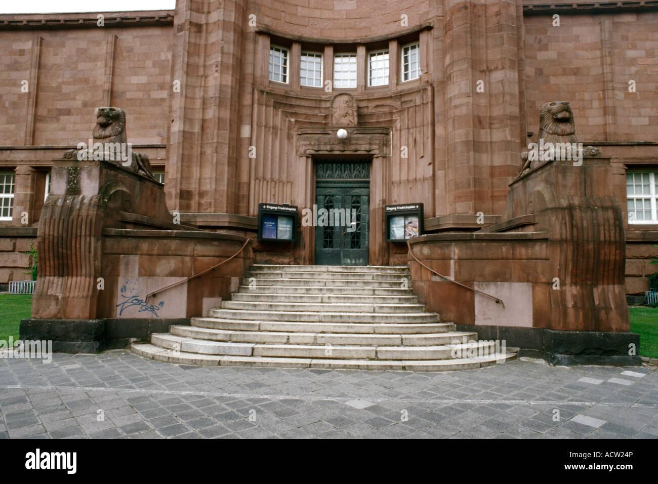 La Kunsthalle di galleria d'arte pubblica Mannheim Germania Immagini Stock