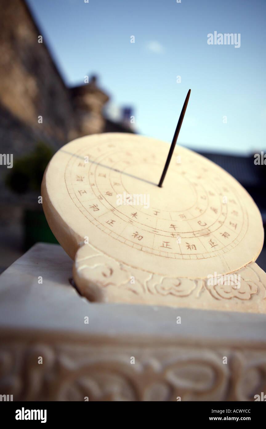 Sundial Cina Immagini Stock