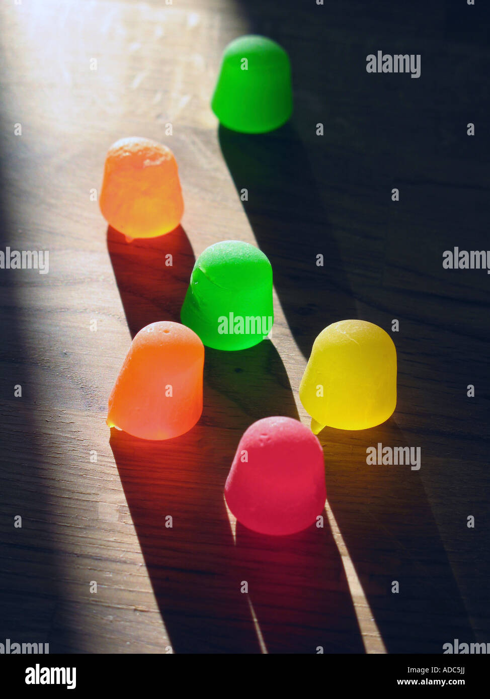 Gomma colorata goccia caramelle Immagini Stock