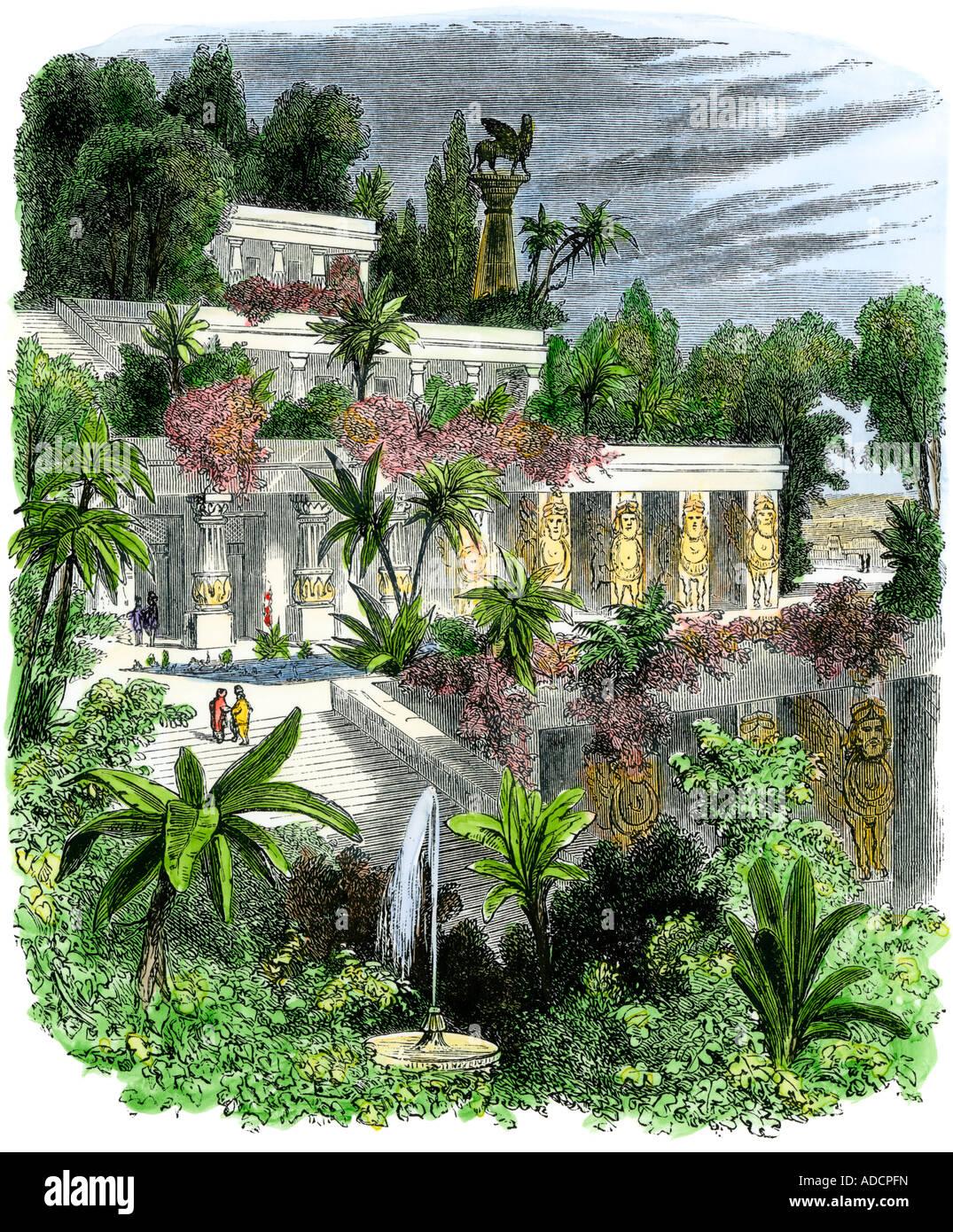 Giardini pensili di babilonia antica foto immagine stock - Giardini pensili immagini ...