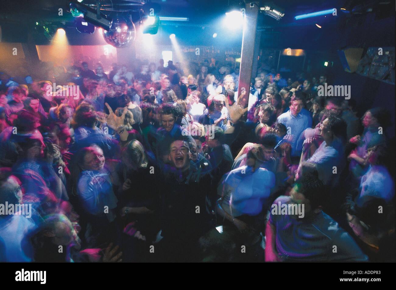 Discoteca uscire, in Freiburg, Baden-Wuerttemberg Deutschland Immagini Stock