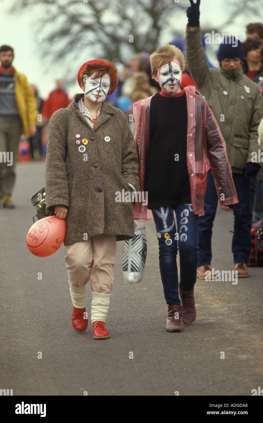 WOMENS Accampamento della pace a Greenham Common Berkshire in Inghilterra. 1983 HOMER SYKES Immagini Stock