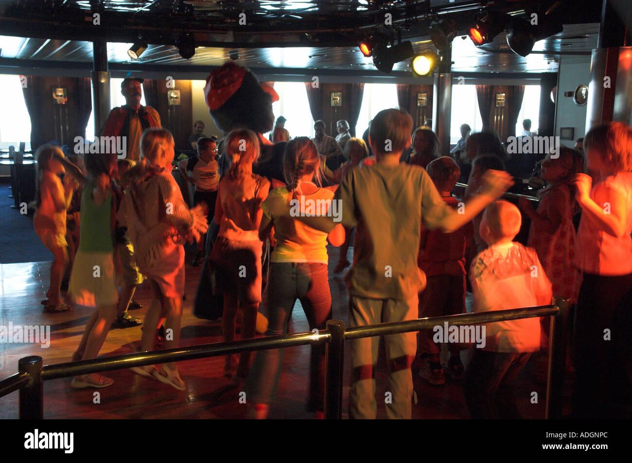 Traghetto discoteca mare del Nord dfds Immagini Stock