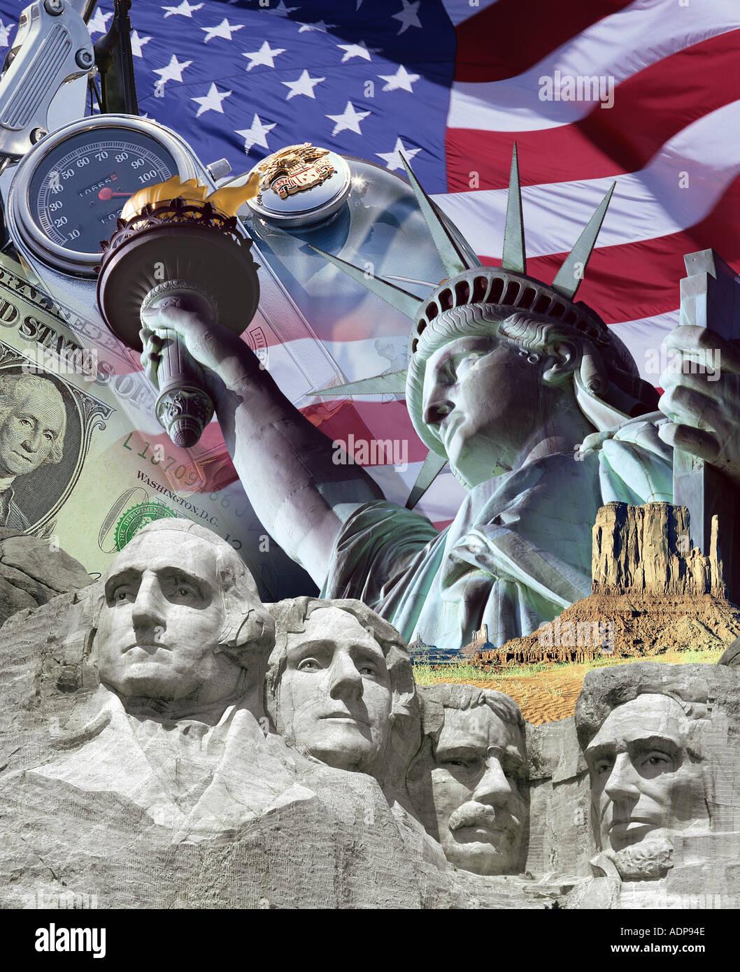 Stati Uniti d'America - AMERICANA: Concetto di viaggio Immagini Stock