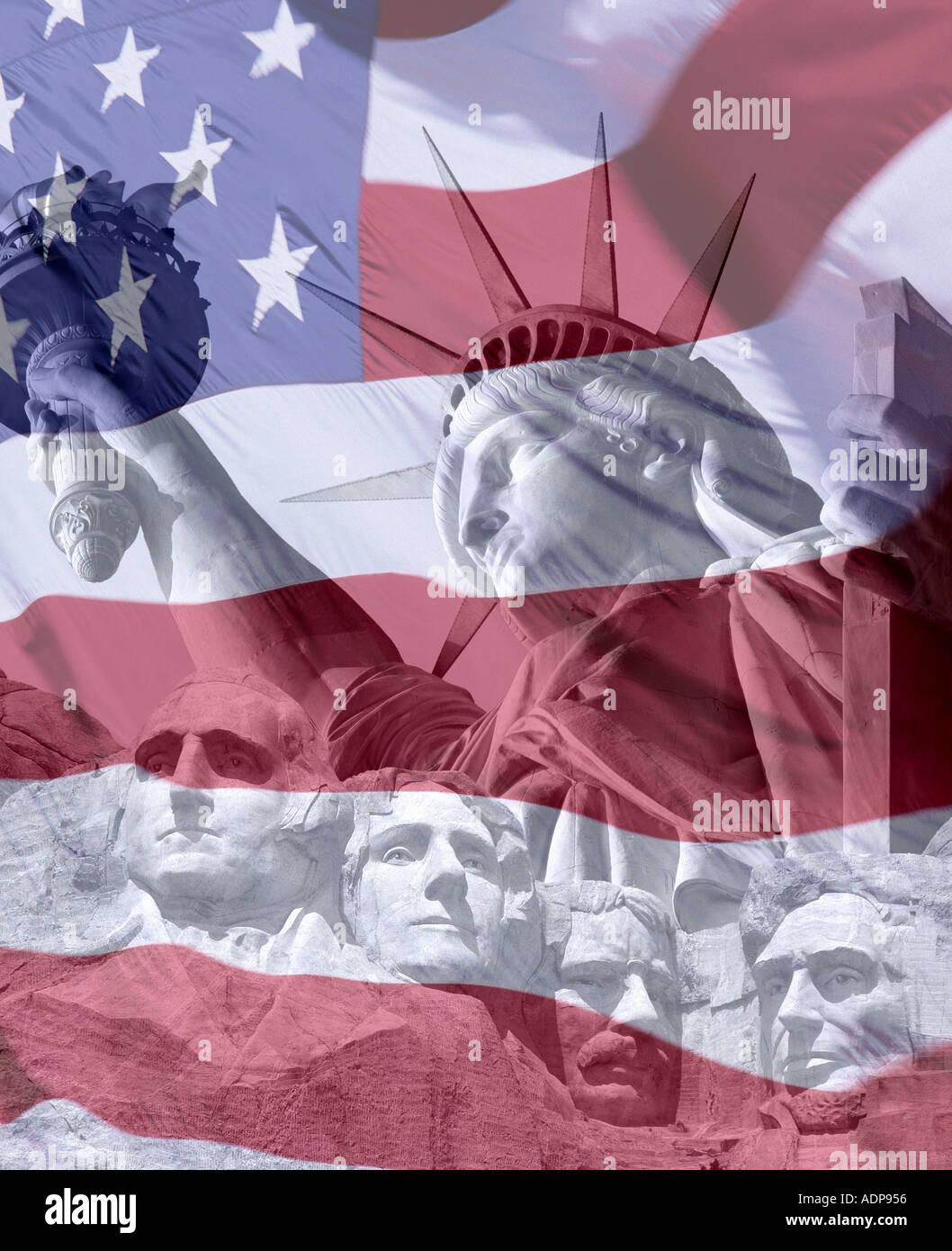 Stati Uniti d'America - Concetto di viaggio: Americana Immagini Stock