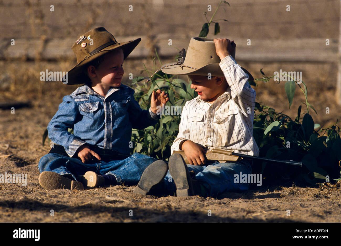 Giovani cowboy Australia Immagini Stock