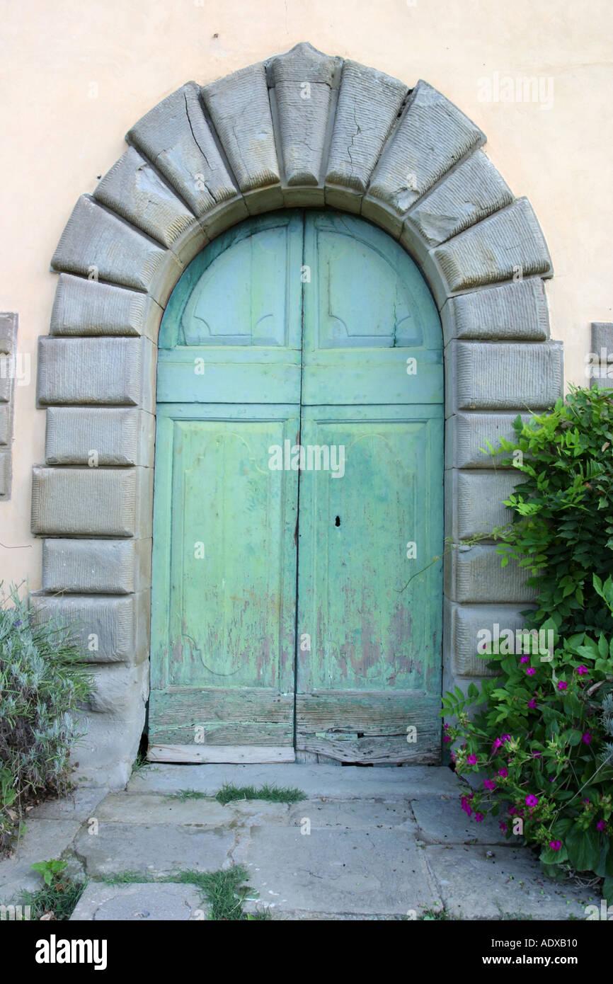 Porta il Palazzone Cortona Italia Foto Stock