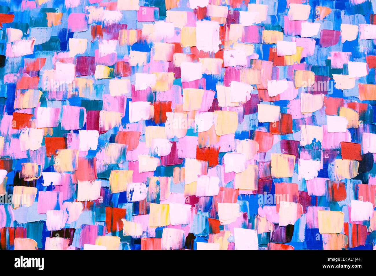 Psichedelico astratta della pittura a olio Immagini Stock