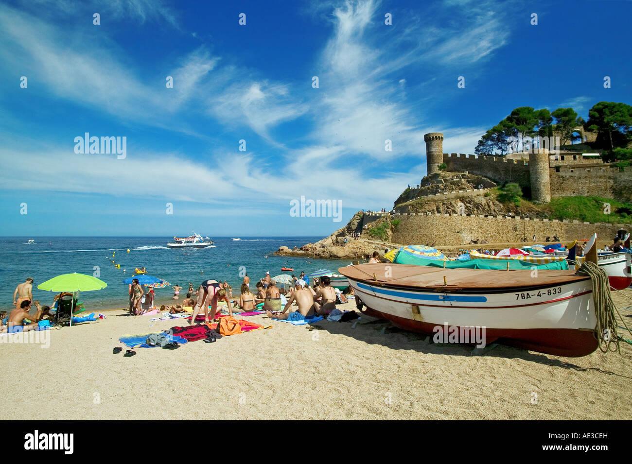 TOSSA DE MAR - COSTA-BRAVA - Catalogna - Spagna Immagini Stock