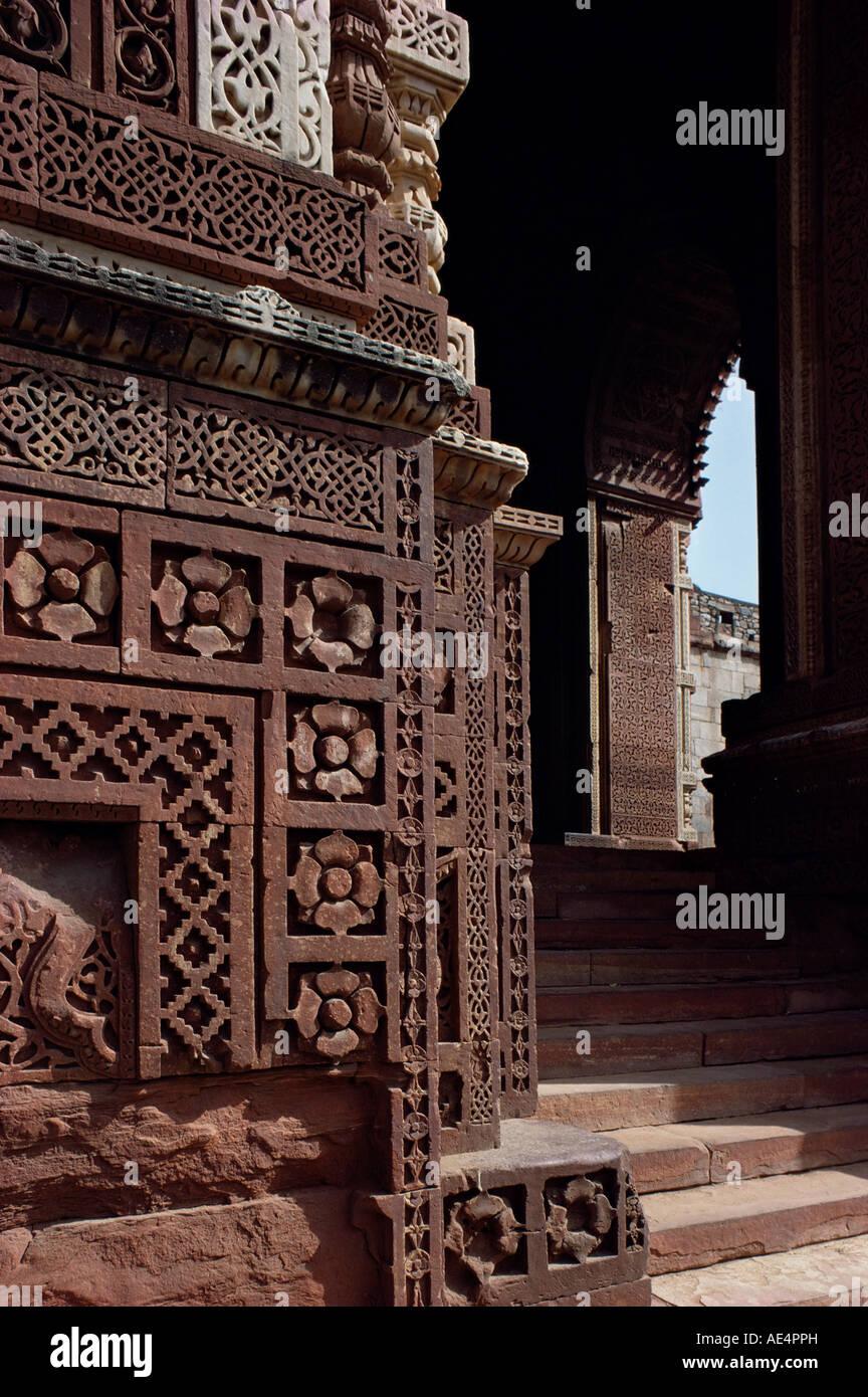 Quwwat ul islam moschea, Delhi, India, Asia Immagini Stock