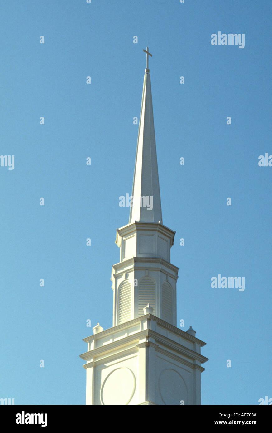 Chiesa protestante steeple Immagini Stock
