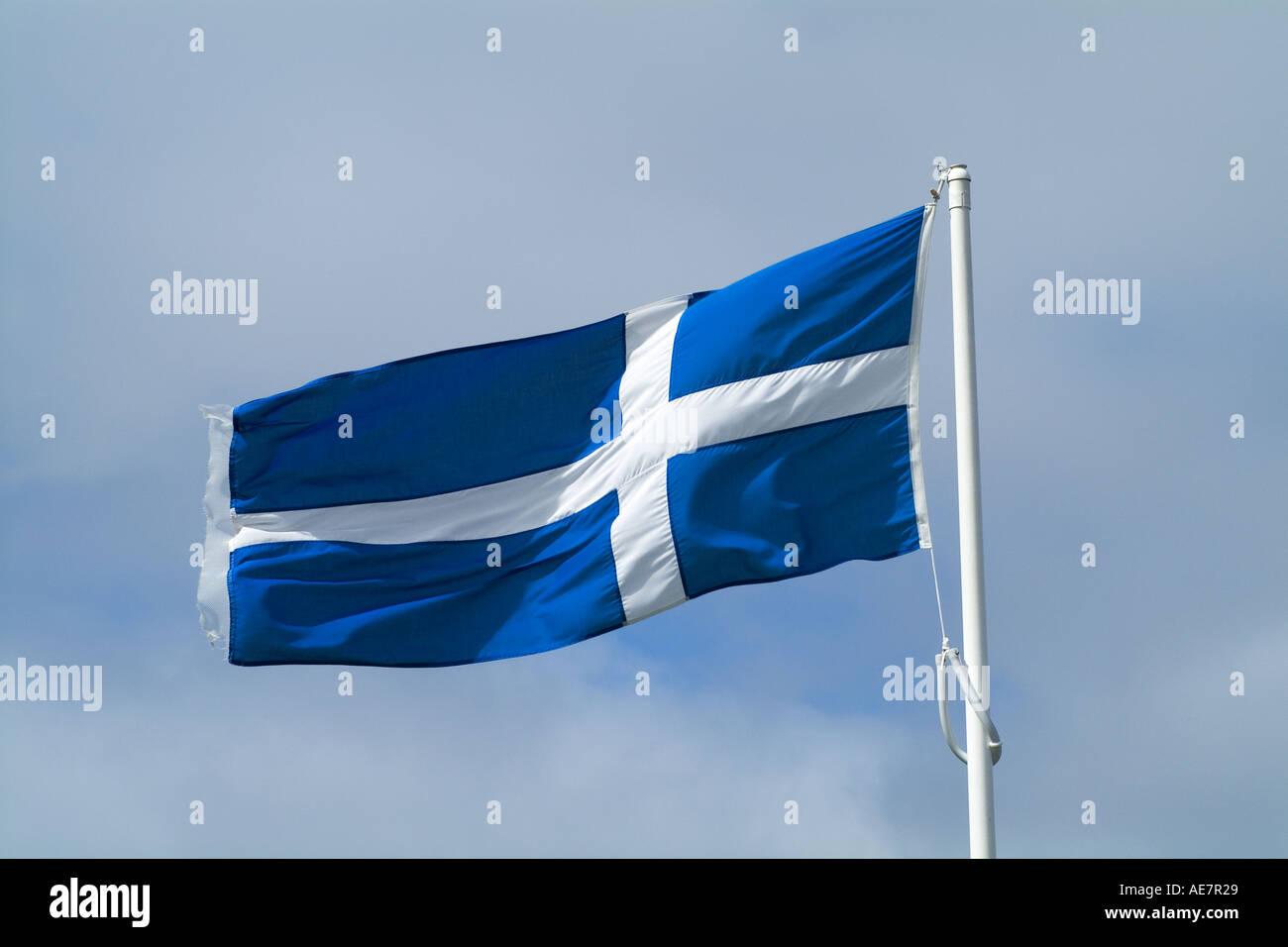 Dh Bandiera Shetland La Croce Bianca Su Sfondo Blu Bandiera Shetland