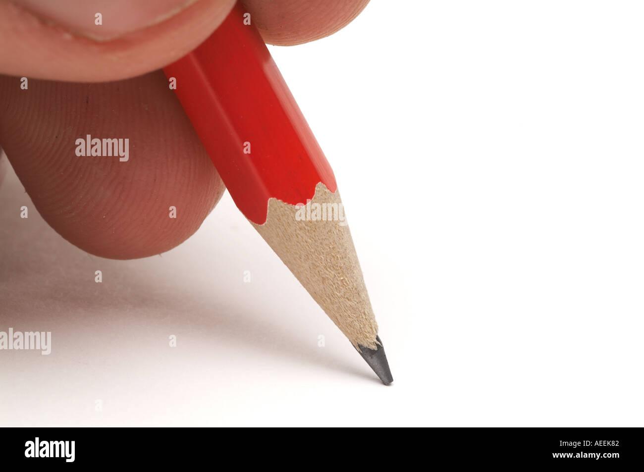 Scrivere Writer La scrittura di disegnare arte artista matita disegno artistico pagina vuota della carta blocco scrittori idea nota memo scribble doodle doodl Immagini Stock