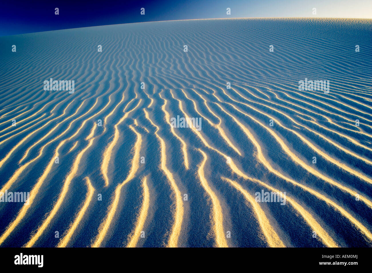 Fluttuazioni nella duna di sabbia White Sands National Monument New Mexico Immagini Stock