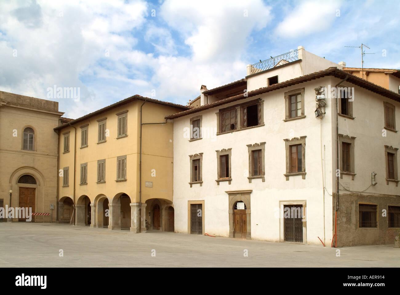 Toscana Italia Piazza Masaccio a San Giovanni Valdarno Toscana Italia Foto Stock