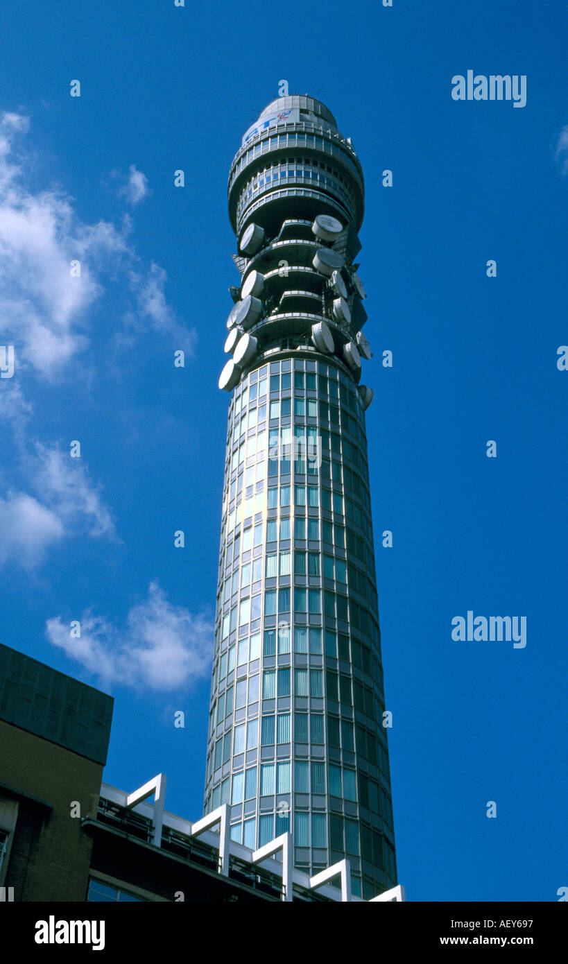 BT Telecom Tower of London Inghilterra England Immagini Stock